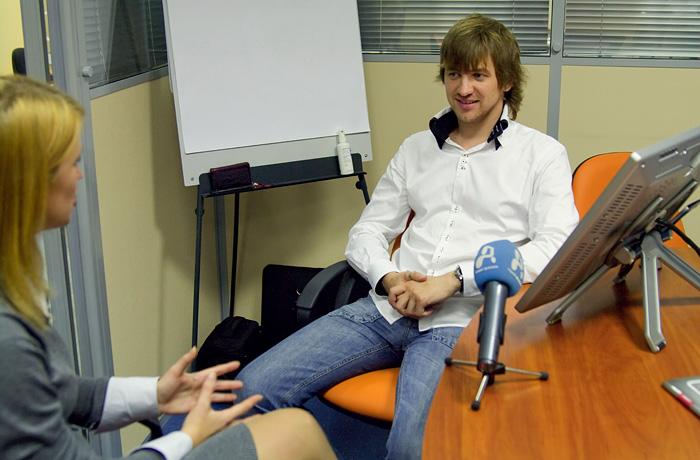 Интервью о планшетах Wacom для «Первого делового» канала.